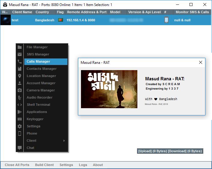 Masud Rana - The Android RAT (SpyNote Modified) - Android & iOS